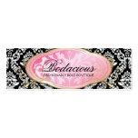 Etiqueta colgante Bodacious del negro del boutique Plantilla De Tarjeta Personal