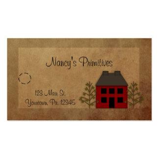 Etiqueta colgante casera primitiva tarjetas de visita