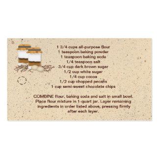 Etiqueta colgante de la mezcla de la galleta del t tarjetas personales