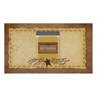 Etiqueta colgante de la vela del tarro tarjeta de negocio