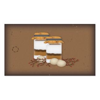 Etiqueta colgante de las direcciones de la mezcla  tarjetas de visita