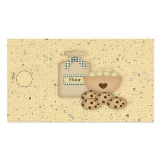 Etiqueta colgante de las galletas tarjetas de visita