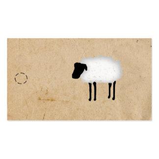 Etiqueta colgante de las ovejas tarjetas de negocios