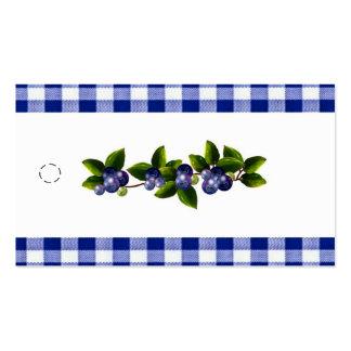 Etiqueta colgante de los arándanos plantilla de tarjeta de visita