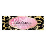 Etiqueta colgante de oro del leopardo del boutique plantilla de tarjeta personal