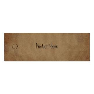 Etiqueta colgante de papel primitiva tarjeta de visita