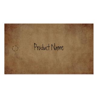 Etiqueta colgante de papel primitiva tarjetas de visita