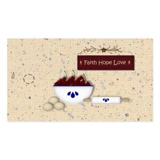 Etiqueta colgante del amor de la esperanza de la f tarjetas de negocios