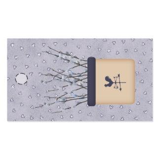 Etiqueta colgante del sauce de gatito plantillas de tarjeta de negocio