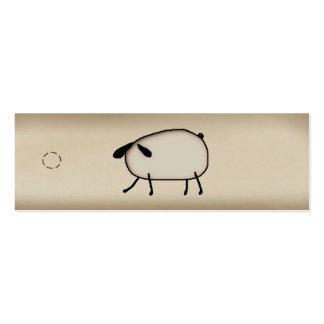 Etiqueta colgante flaca de las ovejas primitivas tarjetas de visita mini