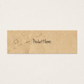 Etiqueta colgante flaca de papel vieja tarjetas de visita mini
