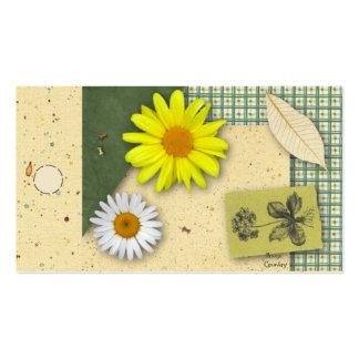 Etiqueta colgante floral del libro de recuerdos tarjeta personal
