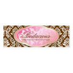 Etiqueta colgante marrón del boutique Bodacious 31 Plantilla De Tarjeta Personal