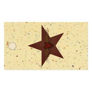Etiqueta colgante perforada de la estrella de la tarjetas de visita