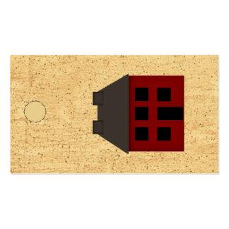 Etiqueta colgante primitiva de la casa tarjetas de visita