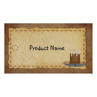 Etiqueta colgante primitiva de la vela tarjetas de visita