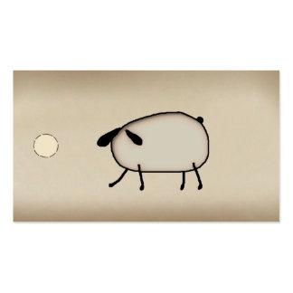 Etiqueta colgante primitiva de las ovejas tarjetas de visita