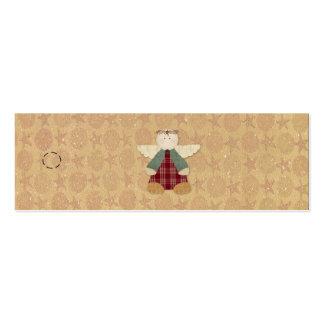 Etiqueta colgante primitiva del ángel tarjetas de visita