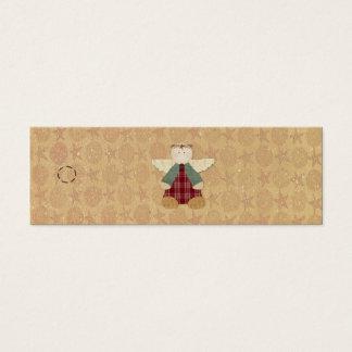 Etiqueta colgante primitiva del ángel tarjetas de visita mini