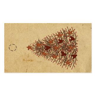 Etiqueta colgante primitiva del árbol plantilla de tarjeta de negocio
