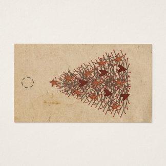 Etiqueta colgante primitiva del árbol tarjetas de visita