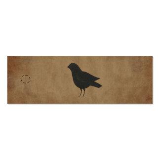 Etiqueta colgante primitiva del cuervo tarjetas de visita mini
