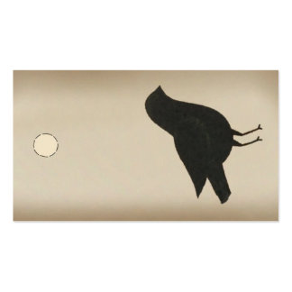 Etiqueta colgante primitiva del cuervo tarjetas de visita