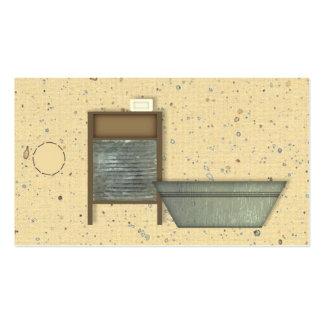 Etiqueta colgante primitiva del lavadero tarjetas de visita