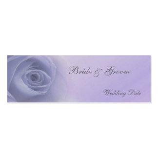 Etiqueta color de rosa de plata del favor del boda tarjetas de visita mini