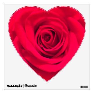 Etiqueta color de rosa del corazón vinilo decorativo
