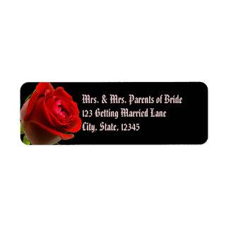 Etiqueta color de rosa gótica de Avery Etiquetas De Remite