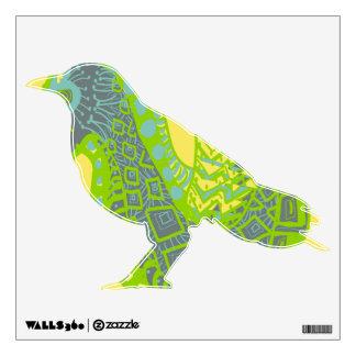 Etiqueta coloreada pájaro del modelo vinilo decorativo