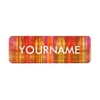 Etiqueta colorida del nombre del modelo del arte etiqueta de remitente