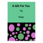 Etiqueta colorida del regalo de los círculos plantillas de tarjeta de negocio