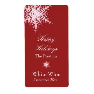 Etiqueta compensada del vino rojo Nevado Etiquetas De Envío