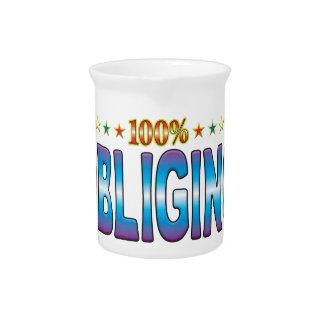 Etiqueta complaciente v2 de la estrella jarras de beber