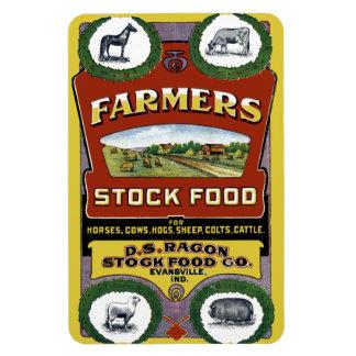 Etiqueta común de la comida de los granjeros de Ev Imanes De Vinilo