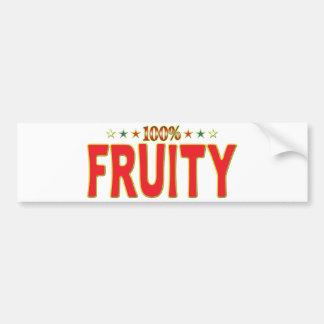 Etiqueta con sabor a fruta de la estrella pegatina para coche