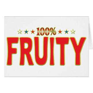 Etiqueta con sabor a fruta de la estrella felicitaciones