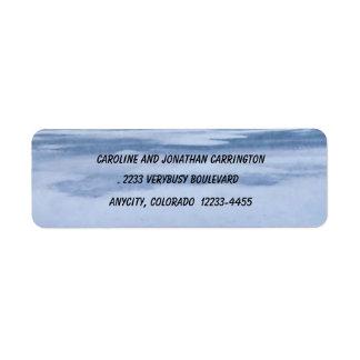 Etiqueta congelada del remite del lago etiquetas de remite