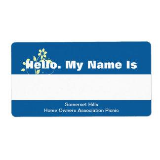 Etiqueta conocida etiquetas de envío