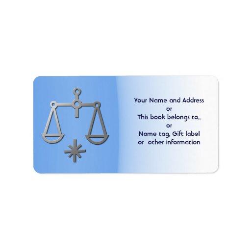 Etiqueta conocida azul del regalo de la etiqueta d etiquetas de dirección