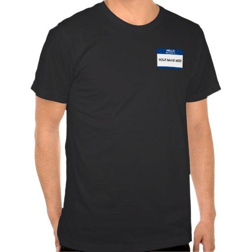 Etiqueta conocida camiseta