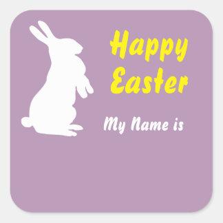 Etiqueta conocida cuadrada feliz de Pascua