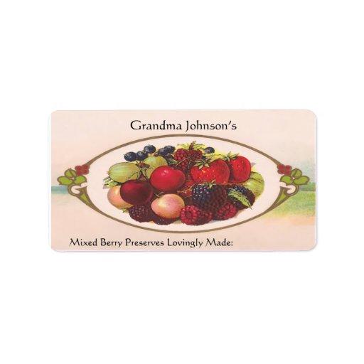 Etiqueta conocida de encargo de la comida del vint etiqueta de dirección