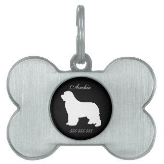 Etiqueta conocida de encargo de la identificación  placas mascota
