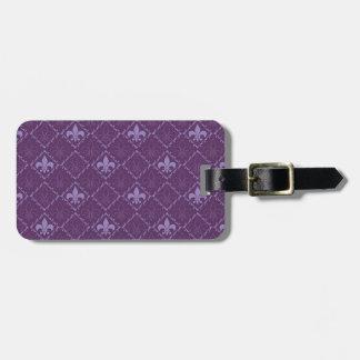 Etiqueta conocida de encargo púrpura del equipaje  etiqueta de equipaje