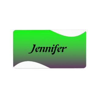 Etiqueta conocida de la plantilla etiqueta de dirección