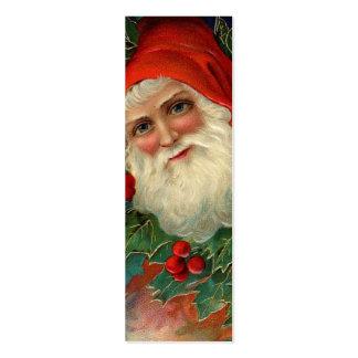 Etiqueta conocida de Santa del vintage o etiqueta  Plantilla De Tarjeta Personal