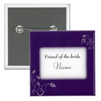 Etiqueta conocida del boda pins